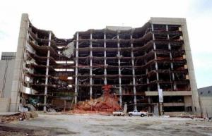 DESTROYED ALFRED P MURRAH FEDERAL BUILDING FILE PHOTO